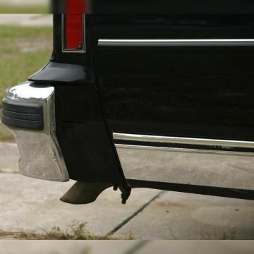 Universal Rear Bumper Diffuser. Shark Fin Lip